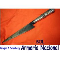 Cuchillo Armeria. Nacional Plata Oro Plateria Criolla Mailh
