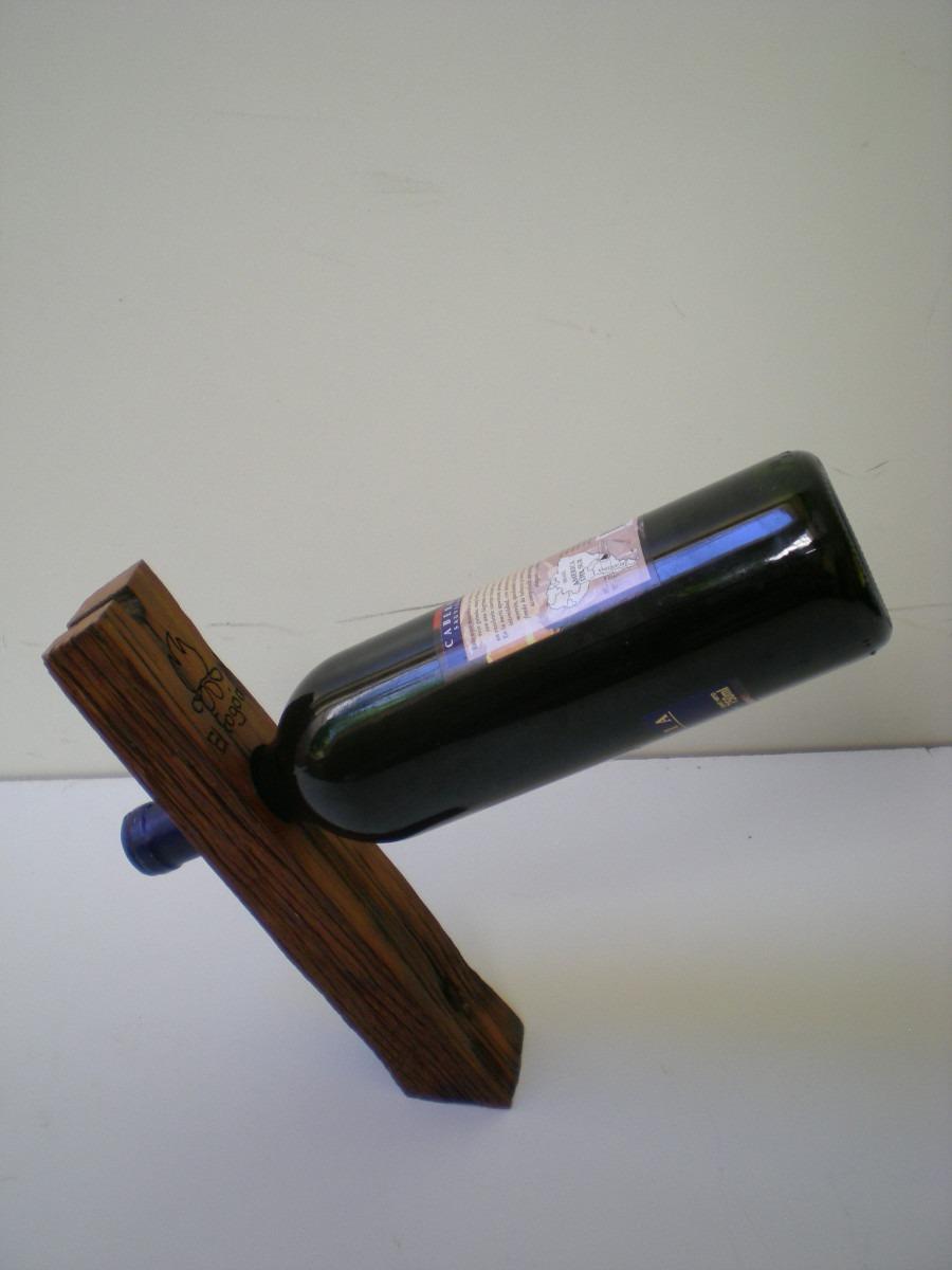 Porta Botella De Vino Rústico Y Original Con Logo Grabado  $ 150,00