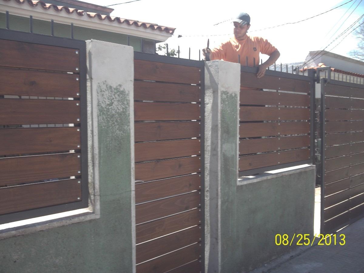 O hacer portones de hierro y madera for Modelos de portones de hierro y madera