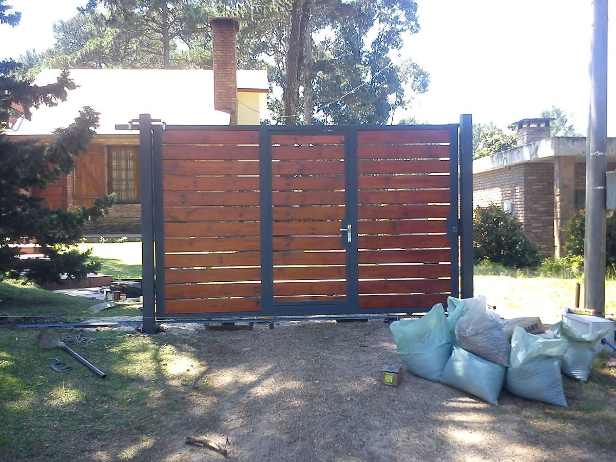 Puertas rejas portones entrepisos decks hierro y madera - Rejas de madera ...