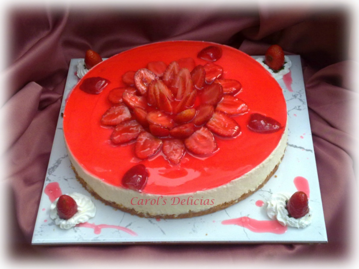 Postre / Torta Cheesse Cake De Frutilla - Carols Delicias