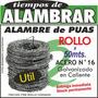 Alambre De Púas (rollo 50mts.)