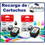 Recarga Cartuchos Canon Negro Pg 145 Color Cl 146. Impresora