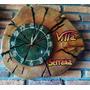 Relojes Artesanales Tallado Y Pintados, En Madera De Ciprés.