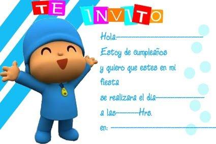 Tarjetas De Invitacion Para Cumpleaños Infantiles