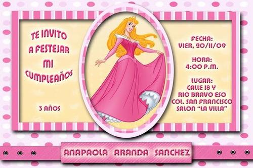 Invitaciónes infantiles de princesas - Imagui