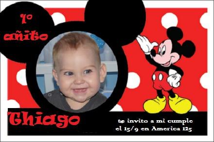 Modelos de tarjeta de invitación de Mickey Mouse - Imagui