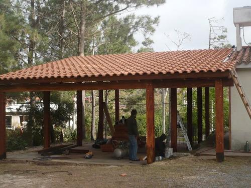 Pergola con techo de teja samling av de senaste for Cubiertas para techos livianas