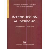 Introducción Al Derecho Jiménez De Aréchaga-risso Ferrand