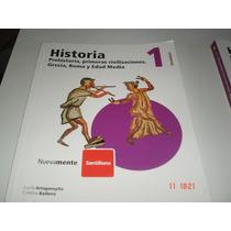 Historia 1, 2, 3 Y 4 - Secundaria Santillana Igual A Nuevos
