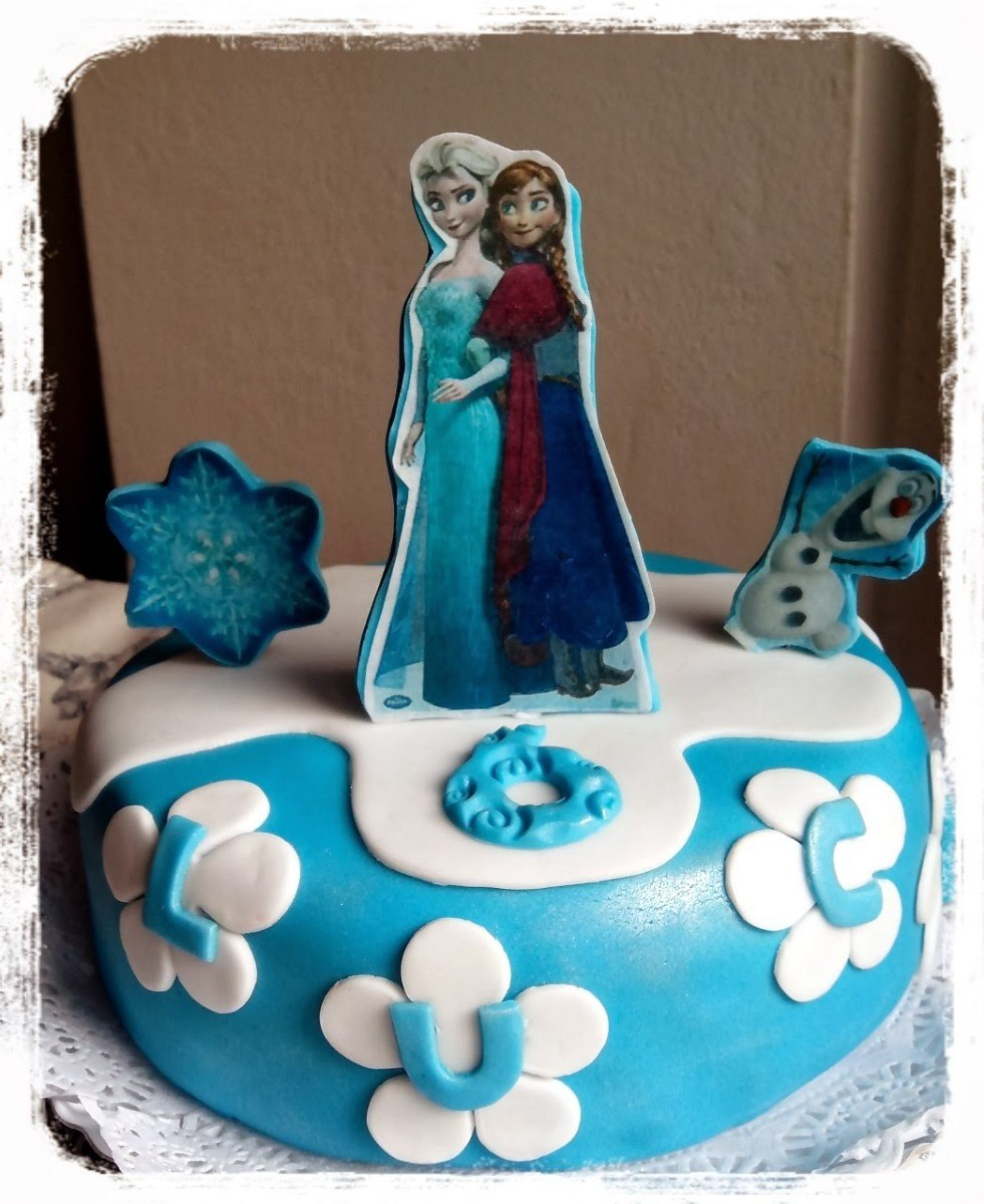 Torta Decorada Frozen Elsa Olaf Pelicula Disney Baño ...