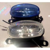 Foco Caminero Moto C/ Lamparas Bco / Azul 8x4cm .x Par