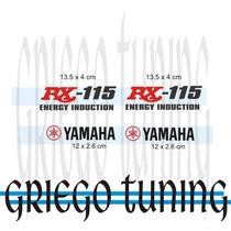 Tun Adhesivo En Vinilo Yamaha Rx 115 2 Colores 4 Piez