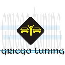 Tuning (ploter) Adesivo Picadas Amarillo Con Fondo Negro