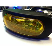 Caminero Foco Neblinero Auto Moto12v C/ Lamp. Jgox2 Amarillo