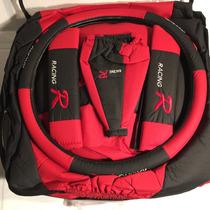 Fundas Cubre Asientos Auto Cuerina Calidad Rojo/ Neg.x12 Pzs