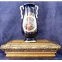 Anfora O Florero Antiguo Escena Galante Azul Cobalto
