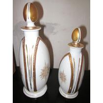 Perfumeros Porcelana Francesa Limoges Art Deco
