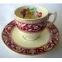 Tacita Y Plato De Café Porcelana Inglesa Woods Ware