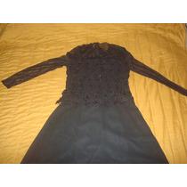 Vestido De Fiesta O Madrina Negro Muy Elegante 6 Pagos Envio