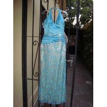 Vestido De Fiesta Para Madrinas Gladys T En Color Turquesa