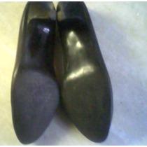 Ch Zapatos Para Dama De Vestir En Cuero Negro Talle 36