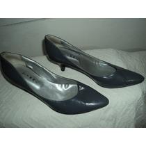 Zapatos De Taco Gris Plomo Numero 40 Sin Uso De Vestir.