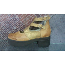 Zapato Dama Cuero Plataforma Calzado Moda