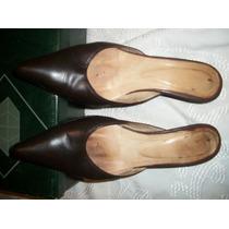 Zapatos De Cuero De Dama Marco Donatti Numero 38 Chocolate