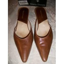 Sandalias Marco Donatti,calzado Zapatos Cuero Legitimo Camel