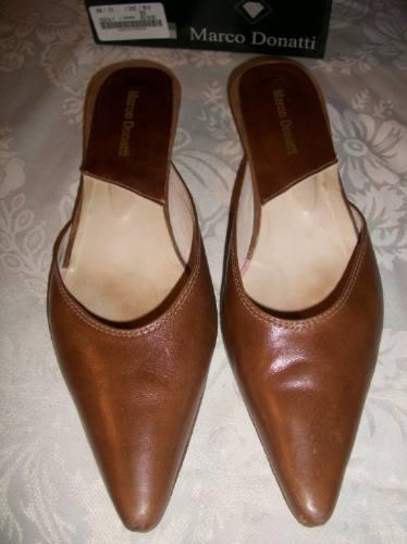 Zapatos,sandalias,calzado Dama Marco Donatti Cuero Camel38