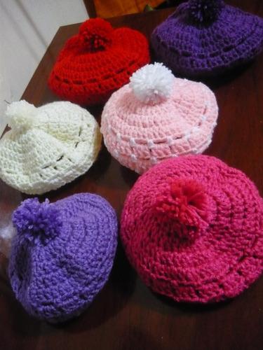 Boinas En Crochet Para Bebes