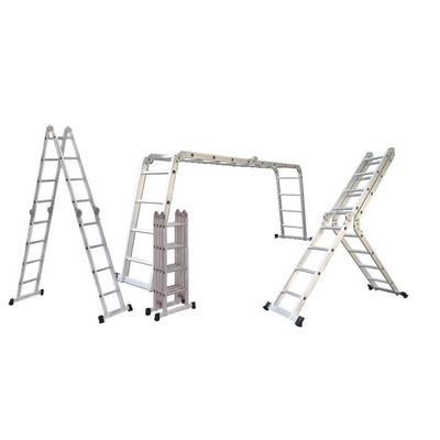 Escalera 4 8 mts multifuncion aluminio 16 esc envio gratis for Escalera multifuncion aluminio