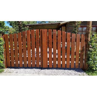 Portones porteras puertas en madera tratado balneario casa - Portones de madera para exterior ...