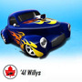 Hot Wheels Willys '41 Hot Rod En Blister