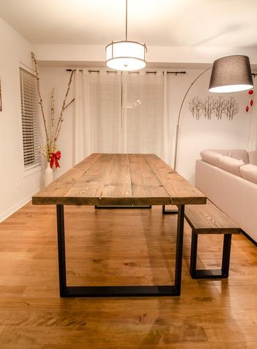 Mesas de comedor en hierro y madera tipo industrial en for Mesas de comedor tipo industrial