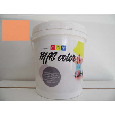 Pintura latex antihongo interior exterior naranja 4 lts for Pintura latex interior